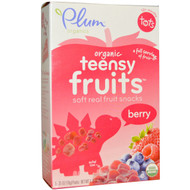3 PACK of Plum Organics, Tots, Organic Teensy Fruits, Berry, 12+ Months, 5 Packs, .35 oz (10 g) Each
