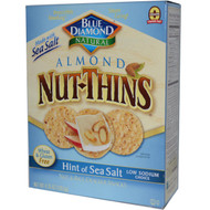 3 PACK of Blue Diamond, Almond Nut-Thins, Nut & Rice Cracker Snacks, Hint of Sea Salt, 4.25 oz (120.5 g)