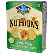 3 PACK of Blue Diamond Almond Nut-Thins Nut & Rice Cracker Snacks Country Ranch -- 4.25 oz