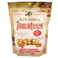 3 PACK of Almondina, Toastees, Cranberry Almond, 5.25 oz (148.9 g)
