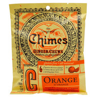 3 PACK of Chimes, Ginger Chews, Orange, 5 oz (141.8 g)