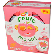 Andros Fruit Me Up!, Only Apples Peaches Apricots, 4 Pouches, 4 oz (113 g) (5 PACK)