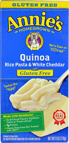 3 PACK of Annies Homegrown Quinoa Rice Pasta & White Cheddar Gluten Free -- 6 oz