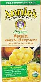 3 PACK of Annies Homegrown Organic Vegan Shells & Creamy Sauce Pasta Dinner -- 6 oz