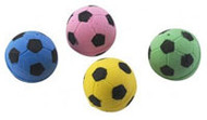 Ethical Pet Products, Sponge Soccer Ball Cat Toy - 4 Pack -5 PACK