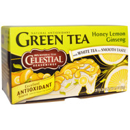 3 PACK of Celestial Seasonings, Green Tea, Honey Lemon Ginseng, 20 Tea Bags, 1.5 oz (42 g)