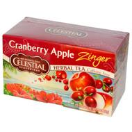 3 PACK of Celestial Seasonings, Herbal Tea, Cranberry Apple Zinger, Caffeine Free, 20 Tea Bags, 1.5 oz (42 g)