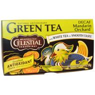 3 PACK of Celestial Seasonings, Green Tea, Decaf, Mandarin Orchard, 20 Tea Bags, 1.2 oz (34 g)