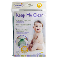 3 PACK of Summer Infant, Keep Me Clean, Disposable Diaper Sacks, 75 Count