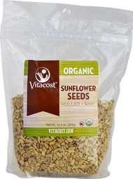 Vitacost Organic Unsalted, Raw and Hulled Sunflower Seeds - 12.5 oz (354 g)