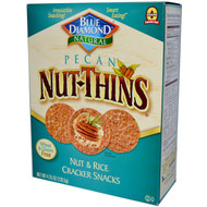 3 PACK of Blue Diamond, Pecan Nut-Thins, Nut & Rice Cracker Snacks, 4.25 oz (120.5 g)