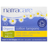 3 PACK of Natracare, Organic Cotton Tampons, Regular, 10 Tampons