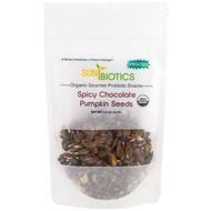 3 PACK OF Sunbiotics, Organic Gourmet Probiotic Snacks, Pumpkin Seeds, Spicy Chocolate, 1.5 oz (42.5 g)