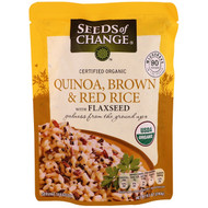 3 PACK of Seeds of Change Organic Quinoa Brown & Red Rice with Flaxseed MICROWAVE POUCH -- 8.5 oz