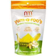 NurturMe, Organic Toddler Snacks, Yum-A-Roos, Pea + Banana + Pineapple, 1 oz (28 g)