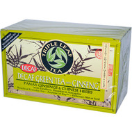 3 PACK of Triple Leaf Tea, Decaf Green Tea with Ginseng, 20 Tea Bags 1.4 oz (40 g) Each