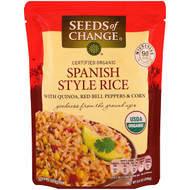3 PACK OF Seeds of Change, Organic, Spanish Style Rice, with Quinoa, Red Bell Peppers & Corn, 8.5 oz (240 g)