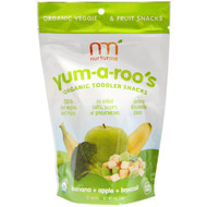NurturMe, Organic Toddler Snacks, Yum-A-Roos, Banana + Apple + Broccoli, 1 oz (28 g)