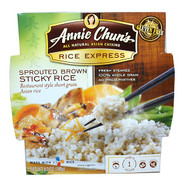 3 PACK of Annie Chuns, Rice Express, Sprouted Brown Sticky Rice, 6.3 oz (180 g)