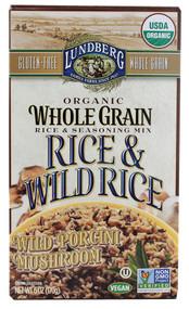 Lundberg, Organic Whole Grain Rice & Wild Rice,  Wild Porcini Mushroom - 6 oz -5 PACK