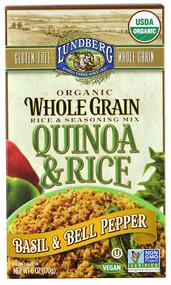 Lundberg, Organic Quinoa & Rice,  Basil & Bell Pepper - 6 oz -5 PACK