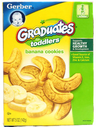 Gerber, Graduates for Toddlers Banana Cookies - 5 oz -5 PACK