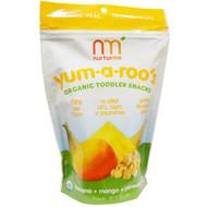 NurturMe, Organic, Toddler Snacks, Yum-A-Roos, Banana + Mango + Pineapple, 1 oz (28 g)