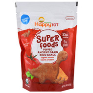 3 PACK OF Happy Family Organics, Organics Happy Tot, Super Foods, Puffed Ancient Grain Dino Snack, Organic Tomato, Basil & Cheddar, 1.48 oz (42 g)