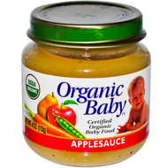 Organic Baby, Certified Organic Baby Food, Applesauce, 4 oz (113 g) (5 PACK)