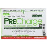 3 PACK of NovaForme, PreCharge, Natural Pre-Workout Drink, Exotic Fruit Punch, 0.35 oz (10 g)
