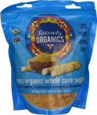 3 PACK of Heavenly Organics 100% Organic Whole Cane Sugar -- 1.25 lb