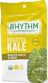 5 PACK of Rhythm Superfoods Organic Roasted Kale  Roasted Garlic & Onion - 0.75 oz