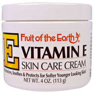 3 PACK of Fruit of the Earth, Vitamin E, Skin Care Cream, 4 oz (113 g)