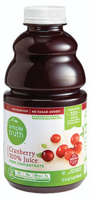 3 PACK of Simple Truth 100% Cranberry Juice -- 32 fl oz