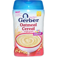 3 PACK of Gerber, Oatmeal Cereal, Single Grain, 8 oz (227 g)