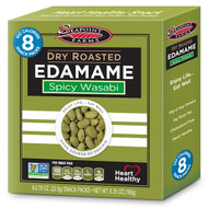 3 PACK of Seapoint Farms, Dry Roasted Edamame, Spicy Wasabi, 8 Snack Packs, 0.79 oz (22.5 g) Each