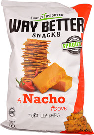 3 PACK of Way Better Snacks Gluten Free Non-GMO Whole GrainTortilla Chips Nacho Cheese -- 5.5 oz