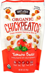 Watusee Foods Organic Gluten Free Chickpeatos Snack  Tomato Basil - 5 oz