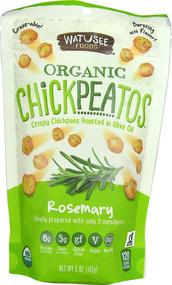 5 PACK of Watusee Foods Organic Chickpeatos  Rosemary - 5 oz