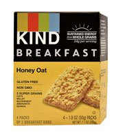 Kind Breakfast Bars  Honey Oat - 4 Packs of 2 Breakfast Bars (5 PACK)
