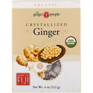 3 PACK OF The Ginger People, Organic Crystallized Ginger, 4 oz (112 g)