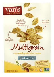 Vans Natural Foods, Cripsy Whole Grain Baked Crackers Gluten Free,  Multigrain - 5 oz -5 PACK