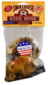 Smokehouse, Knee Bone Dog Treats,  Beef - 2 Pack -5 PACK