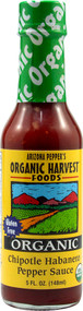 Organic Harvest Foods, Arizona Peppers Organic Sauce,  Chipotle Habanero Pepper - 5 fl oz -5 PACK