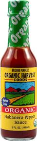 Organic Harvest Foods, Arizona Peppers Organic Sauce,  Habanero Pepper - 5 fl oz -5 PACK