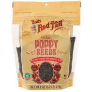 Bobs Red Mill, Whole Poppy Seeds, 8 oz (226 g)