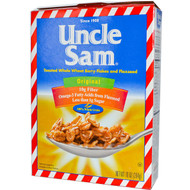 3 PACK of U.S Mills, Uncle Sam Cereal, Toasted Whole Wheat Berry Flakes and Flaxseed, Original, 10 oz (284 g)