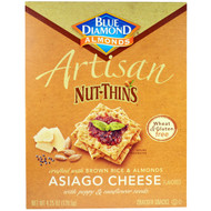 3 PACK of Blue Diamond, Artisan Nut-Thins, Asiago Cheese Cracker Snacks, 4.24 oz (120.5 g)