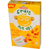 Andros Fruit Me Up!, Mini Fruit Bites, Banana and Pineapple Passion Fruit, 6 Pouches, 0.74 oz (21 g) each (5 PACK)