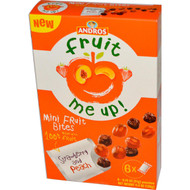 Andros Fruit Me Up!, Mini Fruit Bites, Strawberry & Peach, 6 Pouches, 0.74 oz (21 g) (5 PACK)